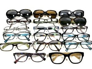 Dealer Lot 17 Pair Women's Coach Modern Desiger Rx Sunglasses Eyeglasses Frames