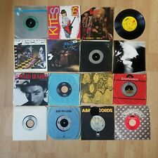 "16x Rock 7"" Singles Job Lot 45's 1970's to 1980's Rolling Stones Pop All Listed"