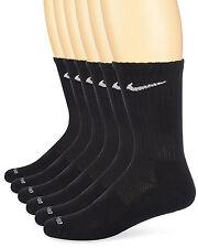 Nike Unisex Dri-Fit Crew 6-Pair Pack Black/White Large Men's Shoe Size 8-12
