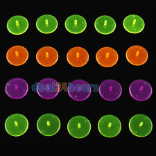 100 x Transparent Plastic Golf Ball Position Markers Assorted Colorful Marker
