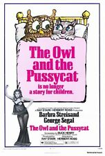THE OWL AND THE PUSSYCAT Movie POSTER 27x40 Barbra Streisand George Segal Robert