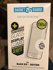 New iPhone 6s/7/8 Plus Tempered Glass Screen Protector (GG Black Ice+ EDITION)