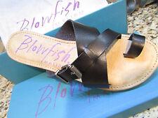 NEW BLOWFISH EEVEE TOE LOOP SLIDE DIE CUT SANDALS WOMENS 8 FLATS BLACK FREE SHIP