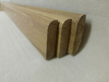 (a34b)  6Stk 100cm Sockelleiste massiv Eiche lack 16x60mm Fußleisten Abschluß