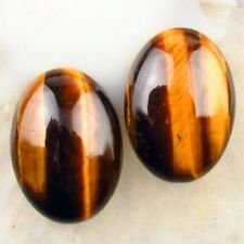 5Pcs 25x18x7mm A+++ Tiger Eye Gem Oval Cab Cabochon