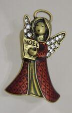 Angel Choir Pin Enameled Christmas Brooch