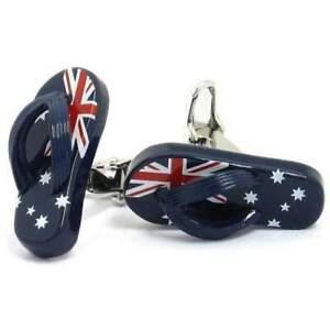 "Australian Flag ""Aussie"" Thong Cufflinks"