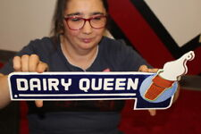 Dairy Queen Ice Cream Restaurant Gas Oil Porcelain Metal Sign