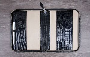 Deluxe High Quality Croc Leather A5 Zip Notebook Cover Leuchttum Moleskine New