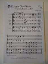Church Choral Sheet Music Christmas- Unto Us a Child is Born (Roberts) 10 copies