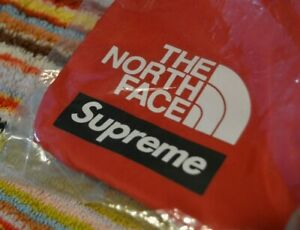 SUPREME x THE NORTH FACE S LOGO SHOULDER BAG RED brand new genuine