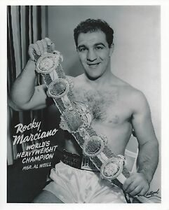 ROCKY MARCIANO 8X10 PHOTO BOXING PICTURE CLOSE UP WITH BELT