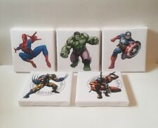 5 More Super Hero Logo  Canvas Pictures On White Back Ground