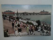 Rare Old Nostalgic PC The Lawns, Wish Tower+Pier Eastbourne Franked 1922 §A1729
