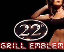 "22"" WHEEL/RIM SIZE GRILL EMBLEM! Chrysler 300/300C 05 06 07 08 09 10 V6/V8/SRT-8"
