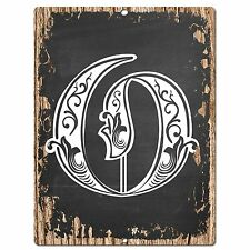 PP0486 Alphabet Initial Name Letter O Chic Sign Bar Shop Store Home Room Decor