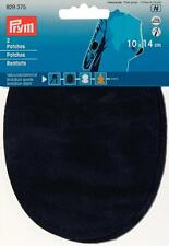 Prym Patches Velourslederimitat zum Aufbügeln 10x14 cm marine 1 Paar 929375
