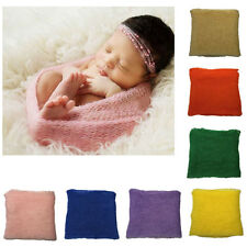 Sale Newborn Baby Stretch Wrap Infant Photography Photo Prop Blanket Rug Blue