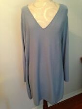 J. JILL Baby Blue Cotton Blend Womens Long Sleeve Tunic Sweater Top  Size Large