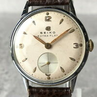 OH serviced, Vintage 1951 SEIKO EXTRA FLAT Very Rare Small Second Watch #352