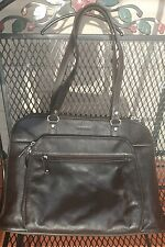 SAMSONITE LAPTOP Carry On Medium carrier BAG purse computer BROWN leather