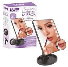 16 Luz LED Pantalla Táctil Iluminada Lupa Espejo Maquillaje Belleza Cosmética