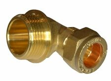 15mm Compression x 3/4 Inch BSP Male Elbow | Brass Plumbing Fittting