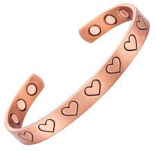 Bracelet magnétique en cuivre avec aimants - Love coeurs
