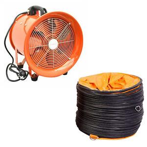 "Portable Ventilator Axial Blower Workshop Ducting Extractor Industrial Fan 12"""