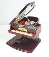 """Kings Musical Grand Piano Jewelry Box Plays Yesterday Once More Red 12""""x 8"""" x 5"""""""