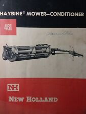 New Holland Sperry Haybine Hay Mower Conditioner 461 Implement Owners Manual