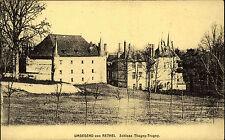 Umgegend von Rethel Frankreich alte Ansichtskarte ~1914-18 Schloß Thugny-Trugny