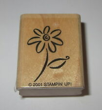 Flower Daisy Rubber Stamp Stampin' Up! Wood Mounted Retired Spring Garden Floral