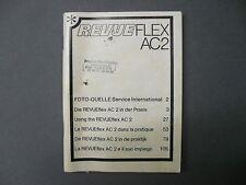 Revueflex AC 2 deutsch/engl./franz./span.,usw. Bedienungsanleitung instructions
