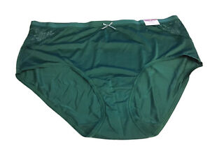 NWT CACIQUE NO SHOW FULL BRIEF SIZE 18/20 DARK GREEN