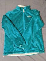 THE NORTH FACE Women's Osito Full Zip Fleece Jacket Fuzzy Teal, Medium
