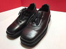 Mezlan RODAN Platinum Men's Black Leather Oxford Shoes Lace Up Size 8.5M Vintage