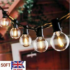 50 FT Outdoor Festoon Globe String Fairy Lights G40 Bulbs Garden Wedding Home