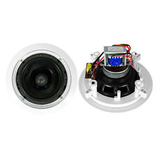 Pair New Pyle PDIC60T 6.5'' Two-Way In-Ceiling Speakers w/70V Transformer