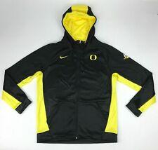 New Nike Oregon Ducks Team Full Zip Therma Hoodie Jacket Men's L Black 897091