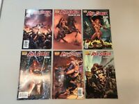 Red Sonja Lot Of 6 One Shot Dynamite Comics Vacant Shell Blue Break The Skin