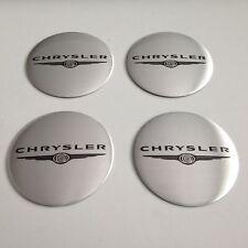 4 Chrystler Aufkleber 65mm Silber Embleme Logo  Nabendeckel 121-Chr