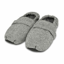 Zhu-Zhu Microwavable Slippers - Herringbone - Unscented Microwave Feet Warmers