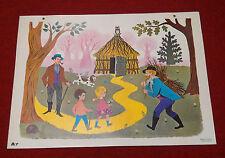 Affiche scolaire bel état ! Fernand Nathan 1965 A7 Dans les bois