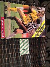 Feyenoord V Aberdeen Uefa Cup 2R 2L 4th Nov 1987 With Match Ticket