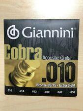 Giannini Cobra Series 85/15 Bronze Acoustic Guitar Strings .010 - .050
