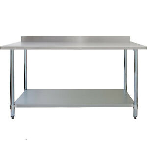 Commercial Catering Table 5ft Heavy Duty Work Bench Kitchen Prep Table stainless