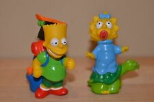 "Vintage 1990 Simpsons PVC Figures Burger King ""Camping"" Bart Maggie Cake Topper"