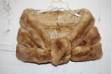 Vintage Gorgeous Beige Blond Mink Fur Cape Wrap Stole