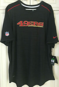 Nike NFL 49ers Official On Field Apparel Men XL Tshirt Grey/Black 778334 010 NWT